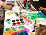 Children Painting at Lemonade Days