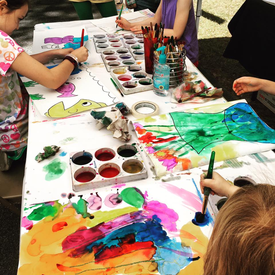 Children Painting at Lemonade Days