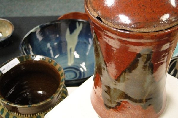 Pottery and Art Sale close up