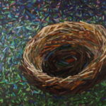 "Julie Mazzoni, ""The Empty Nest"", mosaic, 24 x 36 in, $2800, Instructor of Mosaics"