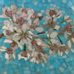 "Julie Mazzoni, ""Cherry Blossoms"", mosaic, 8 x 10 in, $300, Instructor of Mosaics"